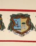Ambito laziale sec. XX, Dipinto con stemma del vescovo Olivares