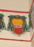 Ambito laziale sec. XX, Dipinto con stemma del vescovo Massimiliani