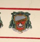 Ambito laziale sec. XX, Dipinto con stemma del vescovo Valeriano