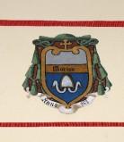Ambito laziale sec. XX, Dipinto con stemma del vescovo Marino