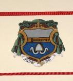 Ambito laziale sec. XX, Dipinto con stemma del vescovo Domenico I
