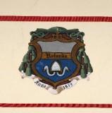 Ambito laziale sec. XX, Dipinto con stemma del vescovo Rolando