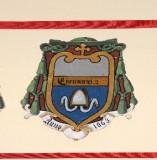 Ambito laziale sec. XX, Dipinto con stemma del vescovo Giovanni II