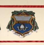 Ambito laziale sec. XX, Dipinto con stemma del vescovo Giovanni IV