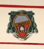 Ambito laziale sec. XX, Dipinto con stemma del vescovo Pietro II Ismaeli