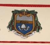 Ambito laziale sec. XX, Dipinto con stemma del vescovo Menco