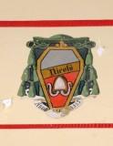 Ambito laziale sec. XX, Dipinto con stemma del vescovo Nicola