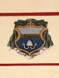 Ambito laziale sec. XX, Dipinto con stemma del vescovo Fra Domenico