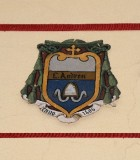 Ambito laziale sec. XX, Dipinto con stemma del vescovo Andrea