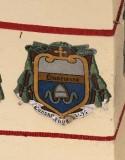 Ambito laziale sec. XX, Dipinto con stemma del vescovo Da Cascia