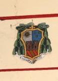 Ambito laziale sec. XX, Dipinto con stemma del vescovo Torres