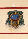 Ambito laziale sec. XX, Dipinto con stemma del vescovo Paolo Emilio Bruni