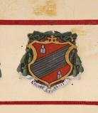 Ambito laziale sec. XX, Dipinto con stemma del vescovo Jacopo Bongalli