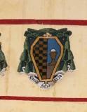 Ambito laziale sec. XX, Dipinto con stemma del vescovo Antonio Simeoni