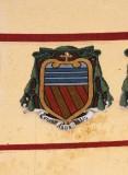 Ambito laziale sec. XX, Dipinto con stemma del vescovo Ghisleri Del Bosco