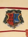 Ambito laziale sec. XX, Dipinto con stemma del vescovo Crispi