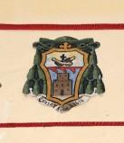 Ambito laziale sec. XX, Dipinto con stemma del vescovo De Martinis