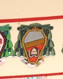 Ambito laziale sec. XX, Dipinto con stemma vescovile barrato