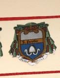 Ambito laziale sec. XX, Dipinto con stemma del vescovo Eusebio