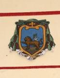 Ambito laziale sec. XX, Dipinto con stemma del vescovo Anania