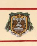 Ambito laziale sec. XX, Dipinto con stemma del vescovo Giusti