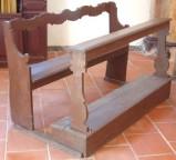 Bott. dell'Italia centrale sec. XVIII-XIX, Banco con dorsale a mezzelune 2/5