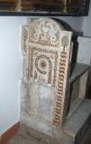 Ambito romano sec. XIII, Lastra sinistra di cattedra