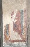 Ambito laziale sec. XIII, Dipinto murale di santa