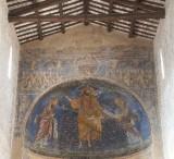 Ambito laziale sec. XIII, Dipinto murale di Gesù pantocratore