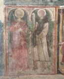 Ambito laziale sec. XIII, Dipinto murale di Santa Lucia e San Bernardo