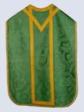 Manifattura ligure sec. XIX, Pianeta in damasco verde con motivi neorococò