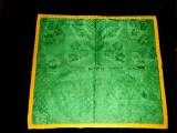 Manifattura ligure sec. XIX, Velo di calice verde con motivi neorococò