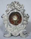 Ambito lombardo sec. XVIII, Reliquiario in argento in lamina