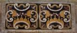 Ambito bergamasco sec. XVII, Basamento da altare in marmo policromo intarsiato