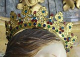 Ambito bergamasco sec. XVIII, Corona della Madonna in lamina dorata