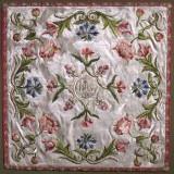 Manifattura lombarda sec. XVIII, Velo di calice bianco in damasco ricamato