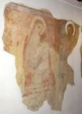 Ambito bergamasco sec. XIV, Frammento di dipinto murale con Madonna