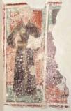 Ambito bergamasco sec. XV, San Nicola da Tolentino dipinto a muro