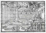 Ambito tedesco seconda metà sec. XVI, Sogno di San Giuseppe