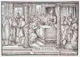 Ambito tedesco seconda metà sec. XVI, Presentazione di Gesù al tempio