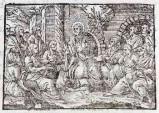 Ambito tedesco seconda metà sec. XVI, Gesù Cristo predica agli apostoli