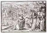 Ambito tedesco seconda metà sec. XVI, Gesù Cristo guarisce il lebbroso