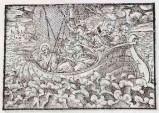 Ambito tedesco seconda metà sec. XVI, Gesù Cristo placa la tempesta