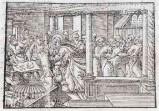 Ambito tedesco seconda metà sec. XVI, Gesù Cristo caccia i mercanti
