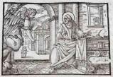 Ambito tedesco seconda metà sec. XVI, Silografia San Matteo Evangelista