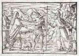 Ambito tedesco seconda metà sec. XVI, Silografia San Giovanni Battista predica