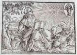 Ambito tedesco seconda metà sec. XVI, Silografia San Giovanni Evangelista