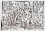 Ambito tedesco seconda metà sec. XVI, Silografia Gesù Cristo predica ai Giudei