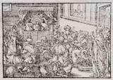 Ambito tedesco seconda metà sec. XVI, Gesù nel tempio tra i dottori