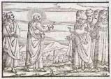 Ambito tedesco seconda metà sec. XVI, Gesù Cristo predica ai Giudei